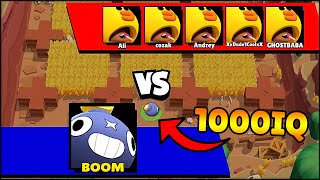 1000 IQ BOOM vs -10 IQ | Brawl Stars Funny Moments & Glitches & Fails #25