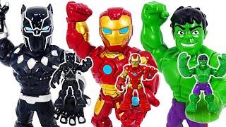 Grow bigger! Avengers Mega Mighties Iron Man, Black Panther, Hulk! | DuDuPopTOY