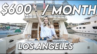 What's Like To Live On a $600 Per Month BOAT in Los Angeles