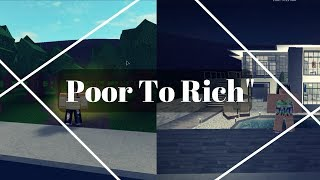 Poor To Rich 1 | Welcome To Bloxburg Short Movie