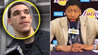 """Lonzo Ball CURSES OUT LEBRON JAMES """"You TRADED ME"""" & Anthony Davis IS EXCITED """"WE WILL WIN"""""""