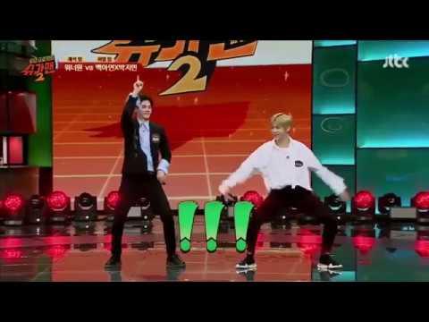 idols singing and dancing to red velvet bad boy