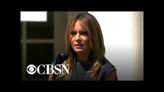 "First lady Melania Trump speaks at anniversary of ""Be Best"" campaign"