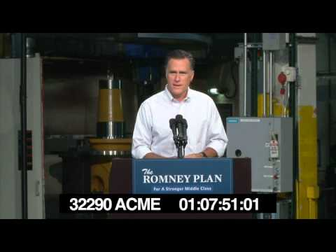 Governor Romney describing what Acme Industries does.