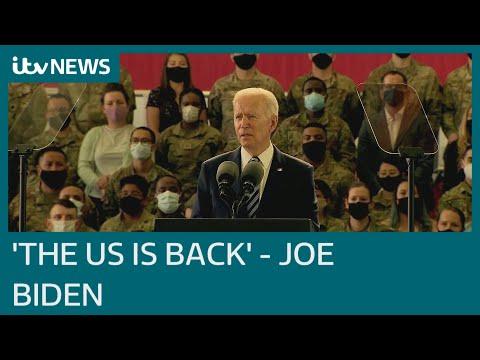 Joe Biden pledges 'the US is back' ahead of talks with Boris Johnson and G7 summit | ITV News