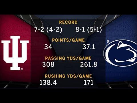 Week 12 Preview: Indiana at No. 9 Penn State   B1G Football