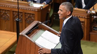 President Barack Obama delivers stirring speech in Parliament