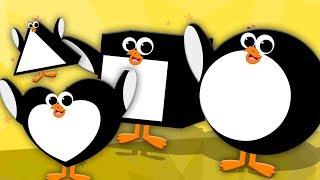 Cinco pinguins pequenos | Nursery Rhymes | Five Little Penguins | Oh My Genius Português