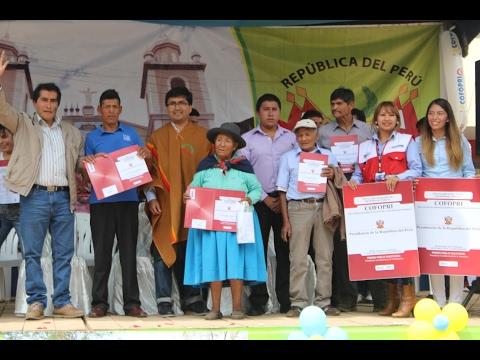 COFOPRI entregó más de 850 títulos de propiedad en Ocobamba – Apurímac