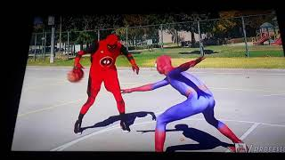Spiderman basketball Spider-Man vs Deadpool