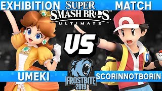 Frostbite 2019 Japan Exhibition - Umeki (Daisy) vs ScorinNB (Pokemon Trainer) - Smash Bros Ultimate