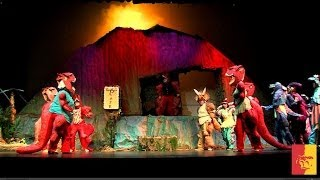 'The Dinosaur Musical - creating a volcano
