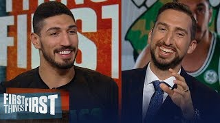 Enes Kanter talks joining Celtics, Westbrook and teases Nick's hair | NBA | FIRST THINGS FIRST