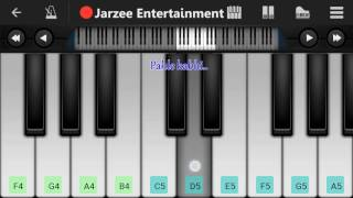 Kabhi jo badal barse (Jackpot), Arijit singh - Mobile Perfect Piano Tutorial