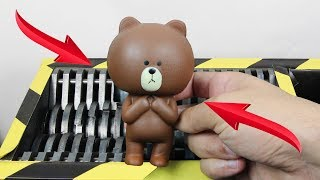 Experiment Shredding Squishy Teddy Bear | The Crusher