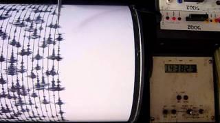 Anak Krakatau Volcano seismograph reading: 8 October 2011