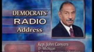 2/23/08 Democratic Radio Address - John Conyers