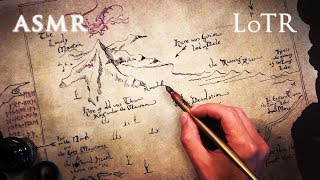 ASMR 1hr Lord of the Rings & The Hobbit   Dip Pen Drawing Thror's Map