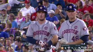 Astros sweep the Rangers highlights (out scored 37-6)