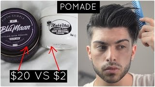 Men's Hair | $2 vs $20 Product: Pomade