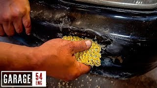 Bumper repair using Asian noodles – for real