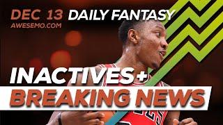 NBA DFS Picks - Fri 12/13 - Deeper Dive & Live Before Lock