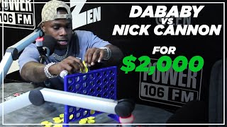 DaBaby vs Nick Cannon: $2k Connect Four Match!