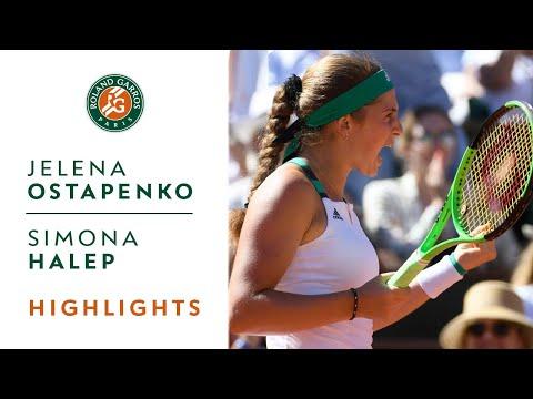 Jelena Ostapenko vs Simona Halep