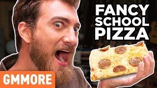 World's Fanciest School Lunch Pizza