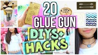 20 Ways to Use a Glue Gun! DIYs and Life Hacks | JENerationDIY
