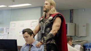 "Chris Hemsworth ""needed some ME time"" hilarious THOR sketch. Team Thor"