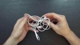 untangling headphones that were in my pocket