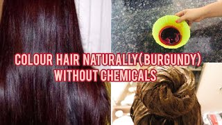 DIY 100% Natural Homemade Hair Colour  with Heena(No chemicals)| Burgundy Colour| Manisha Pranay