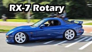 Mazda RX-7 Turbo Rotary Engine Sound (Accelerations)