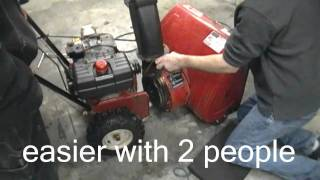 How to change or replace your belts on your two stage mtd snowblower (The hard way?)