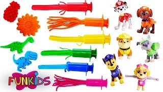 Learn Colors with Paw Patrol Play Doh Surprise 1 Hour Compilation