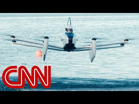 CNN reporter takes to the sky in flying car