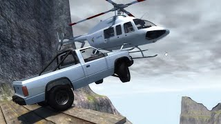 BeamNG.drive - Throwing Cars at Helicopters