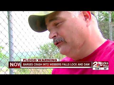 Webbers Falls dam being inspected after crash