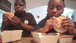 Big Mac challenge with my sister