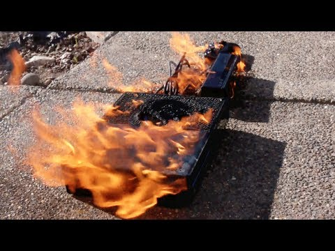 Burning A New Xbox One - Fire Test - Smashpipe Tech