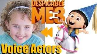 """""""Despicable Me 3"""" (2017) Voice Actors and Characters"""