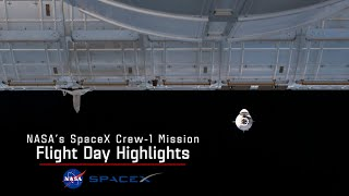 NASA and SpaceX Crew-1 Flight Day 2 Highlights