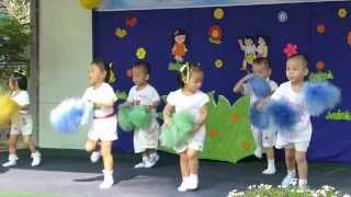 Múa Trời nắng trời mưa Lớp Mầm trường mầm non Hoa Hồng Đỏ quận 9