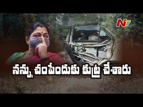 BJP leader Khushbu reacts on car mishap