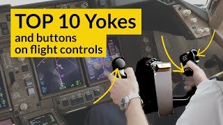 WHAT do the buttons do on a FLIGHT CONTROL YOKE? + TOP 10 YOKE designs! Explained CAPTAIN JOE