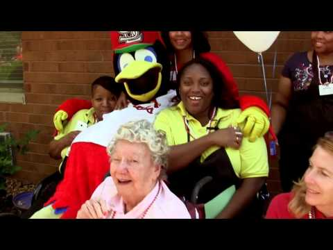 Fredbird Visits Village North