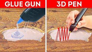 Glue Gun Vs. 3D Pen    How To Repair Everything