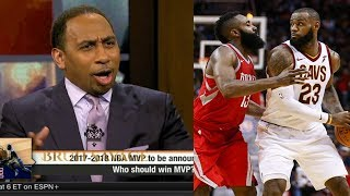 Stephen A Smith Goes Off On Max Kellerman Picking LeBron Over Harden For MVP:This Must Be A Joke!
