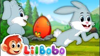 Easter Bunny Song - Little BoBo Nursery Rhymes | Flickbox Kids Songs | Surprise Eggs